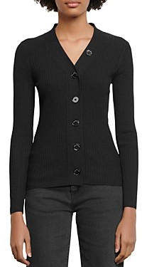 Sandro Gabrielle Ribbed Knit Cardigan