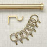 Crate & Barrel Brushed Brass Curtain Hardware