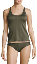 Michael Kors Ribbed Racerback Tankini Top