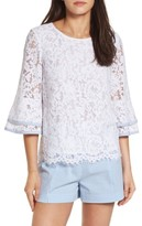 Draper James Women's Lace Bell Sleeve Blouse