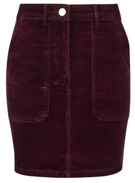Dorothy Perkins Womens Petite Berry Cord Skirt