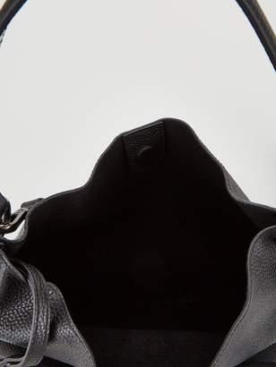 Ted Baker Jalinda Exotic Leather Faceted Bar Hobo Bag - Black