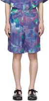 Marni Blue Tie-Dye Jacquard Shorts