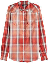 Amiri Embellished Plaid Shirt