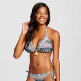Xhilaration Women's Tassel Triangle Bikini Top