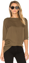 Vince Rib Trimmed Tunic in Brown