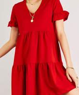 Aqe Fashion AQE Fashion Women's Casual Dresses RED - Red Shift Dress - Women