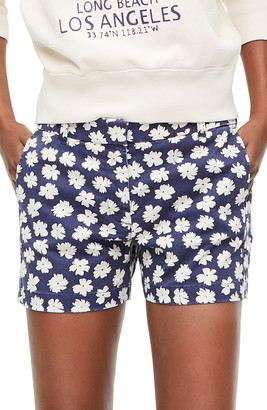 J.Crew Scattered Daisies 4-Inch Stretch Chino Shorts