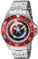 Marvel Men's 'Captain America' Quartz Stainless Steel Casual Watch