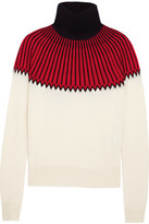 Chloé Snow Capsule Intarsia Cashmere Turtleneck Sweater - Red