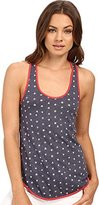Alternative Women's Printed Tank Top with Shirttail Hem