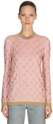 Gucci Gg Supreme Wool Jacquard Sweater
