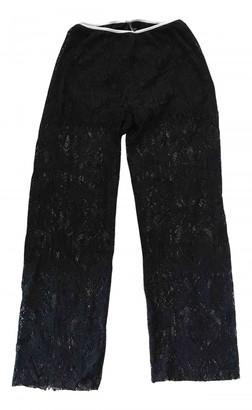 Liviana Conti Black Spandex Trousers