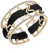 INC International Concepts Openwork Star Pave Cuff Bracelet with Velvet Ribbon, Created for Macy's