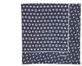 Prada Lightning bolt-print silk-twill pocket square