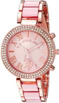 U.S. Polo Assn. Women's USC40084 Analog Display Japanese Quartz Pink Watch