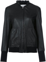 Derek Lam 10 Crosby frill collar jacket - women - Lamb Skin - 0