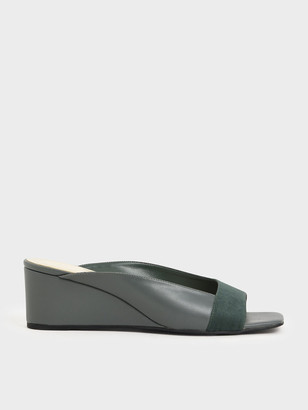 Charles & Keith Asymmetrical Open Toe Wedges