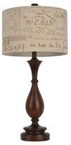 """J. Hunt Wood and Script Table Lamp - Brown/Tan (29.25"""")"""