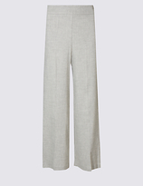 M&S Collection Linen Rich Cropped Wide Leg Trousers