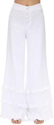 Azulu Champeta Wide Leg Linen Pants