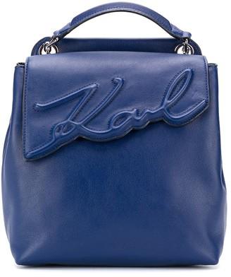 Karl Lagerfeld Paris K/Signature soft backpack