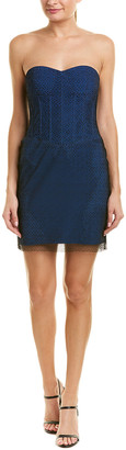 Diane von Furstenberg Corset Silk-Trim Mini Dress