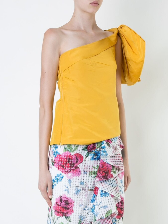 Thumbnail for your product : Bambah Side Bow Embellished Silk Top
