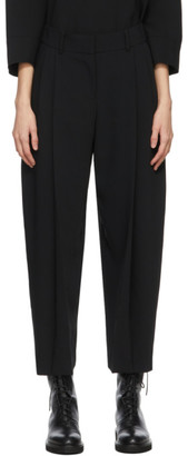 See by Chloe Black Crepe City Trousers