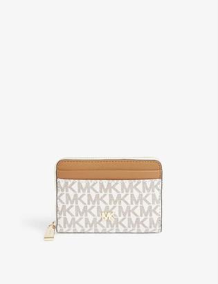 MICHAEL Michael Kors Small monogram coated canvas wallet