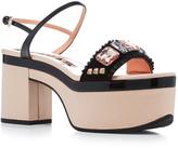 Rochas Crystal Embellished Platform Sandals