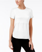 Bar III Short-Sleeve Contrast Top, Only at Macy's