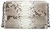Nancy Gonzalez Python/Crocodile Small Double-Chain Shoulder Bag, Natural/Brown