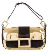 Roger Vivier Suede & Metallic Leather Shoulder Bag
