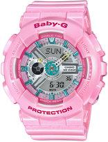 Baby-G Women's Analog-Digital Pink Strap Watch 46x43mm BA110CA-4A