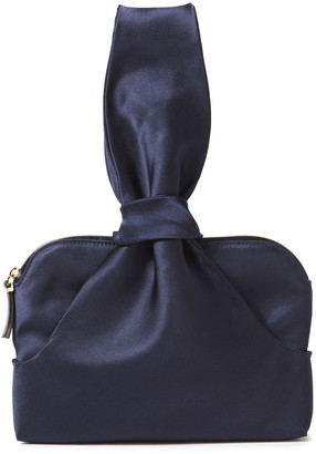 The Row Wristlet Knotted Satin Clutch