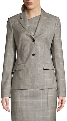 HUGO BOSS Jatinda3 Natural Wool Stretch Check Jacket