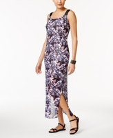 NY Collection Petite Printed Column Maxi Dress