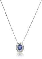 Tagliamonte Incanto Royale Diamond and Sapphire Round 18K Gold Pendant Necklace