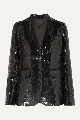 Nili Lotan Sophia Sequined Crepe Blazer - Black
