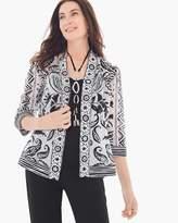 Chico's Border Print Kimono Jacket