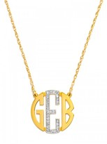 BaubleBar Diamond Block Monogram