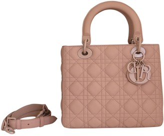 Christian Dior Lady Pink Leather Handbags