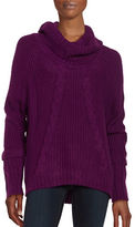 Ivanka Trump Cable-Knit Cowlneck Sweater