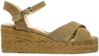 Castaner Blaudell Cotton-canvas Wedge Espadrille Sandals