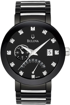 Bulova Men's Quartz Analog Diamond Bracelet Watch, 40mm - 0.047ctw