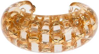 One Kings Lane Vintage Chanel Lucite & Gold Bracelet - Treasure Trove NYC