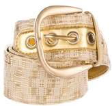 Gucci Woven Buckle Leather