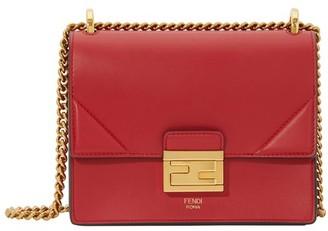 Fendi Small Kan U Leather Shoulder Bag