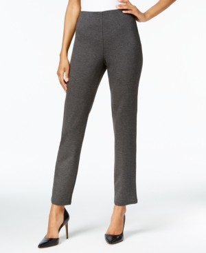 JM Collection Solid Ponte-Knit Pull-On Pants, Created for Macy's